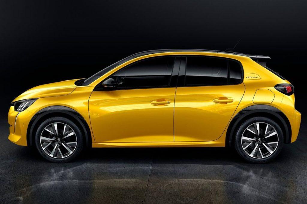 Nový Peugeot 208 - pohľad zboku